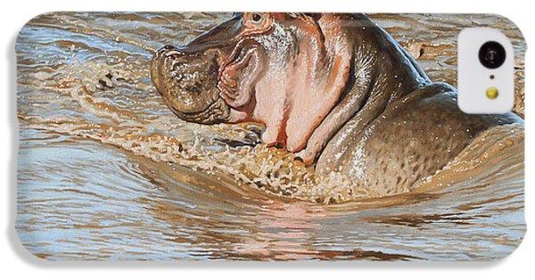 Hippopotamus iPhone 5c Case - Mara River Hippo by Aaron Blaise