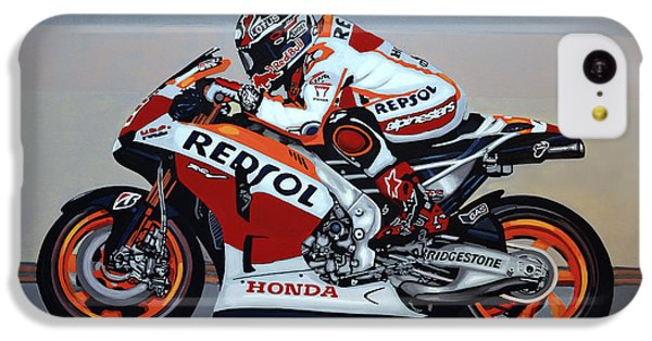 Motorcycle iPhone 5c Case - Marc Marquez by Paul Meijering