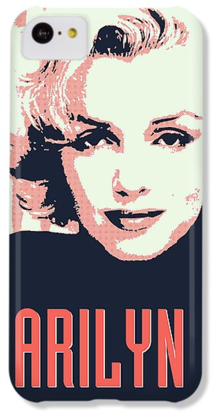 Marilyn M IPhone 5c Case by Chungkong Art