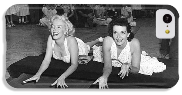 Marilyn Monroe And Jane Russell IPhone 5c Case by Underwood Archives