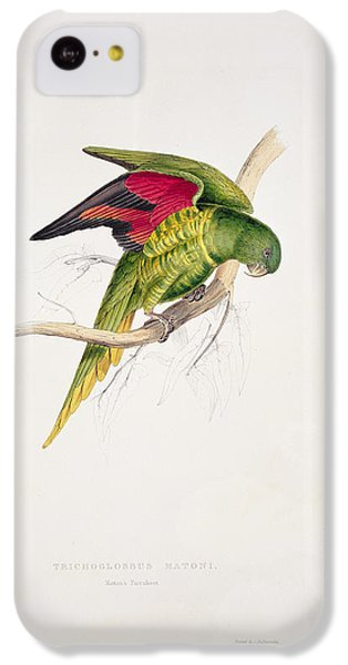 Matons Parakeet IPhone 5c Case by Edward Lear