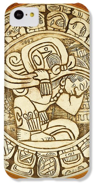 Belize iPhone 5c Case - Mayan Woodcarving, Belize by William Sutton