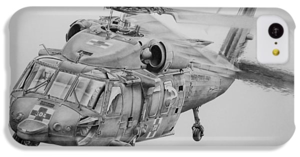 Helicopter iPhone 5c Case - Medevac by James Baldwin Aviation Art