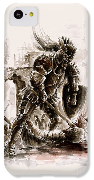 Medieval Knight IPhone 5c Case by Mariusz Szmerdt