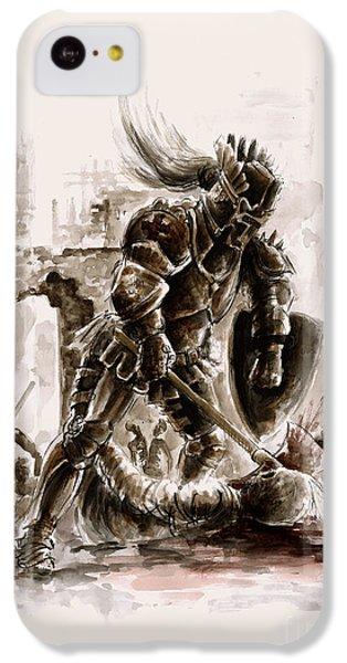 Dungeon iPhone 5c Case - Medieval Knight by Mariusz Szmerdt
