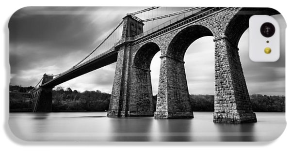 Menai Suspension Bridge IPhone 5c Case by Dave Bowman