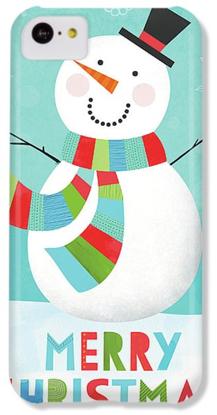 Merry Snowman IIi IPhone 5c Case by Lamai Mccartan