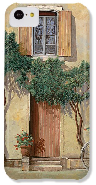 Bicycle iPhone 5c Case - Mezza Bicicletta Sul Muro by Guido Borelli