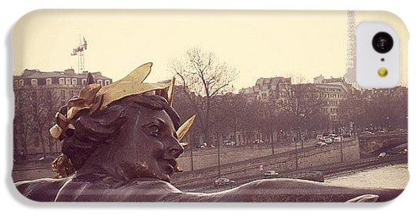 Architecture iPhone 5c Case - #mgmarts #france #paris #statue #bridge by Marianna Mills