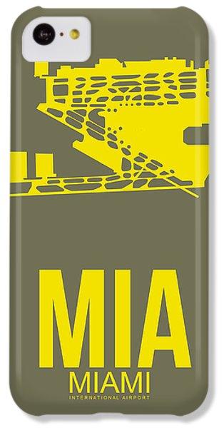 Miami iPhone 5c Case - Mia Miami Airport Poster 1 by Naxart Studio