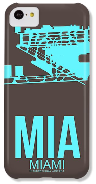 Miami iPhone 5c Case - Mia Miami Airport Poster 2 by Naxart Studio