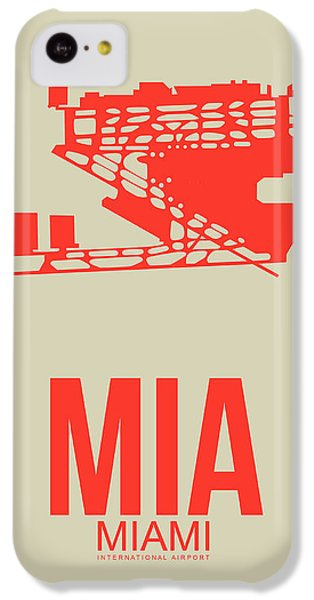 Miami iPhone 5c Case - Mia Miami Airport Poster 3 by Naxart Studio