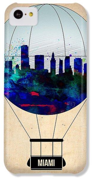 Miami iPhone 5c Case - Miami Air Balloon by Naxart Studio