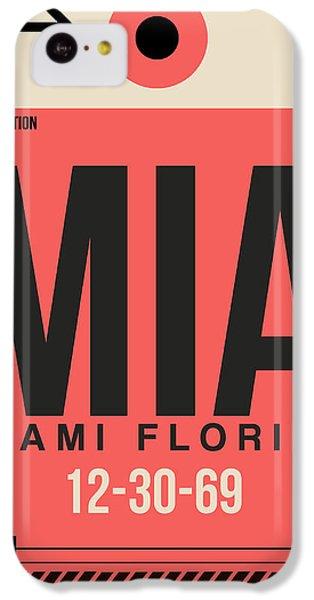Miami iPhone 5c Case - Miami Airport Poster 3 by Naxart Studio