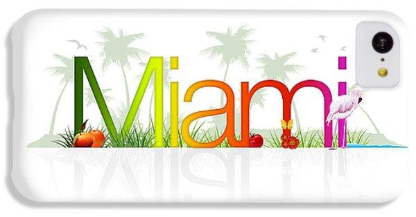 Crocodile iPhone 5c Case - Miami- Florida by Aged Pixel