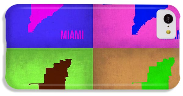 Miami iPhone 5c Case - Miami Pop Art Map 1 by Naxart Studio