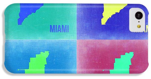Miami iPhone 5c Case - Miami Pop Art Map 2 by Naxart Studio