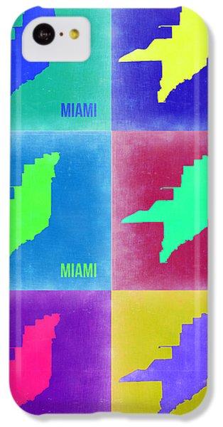 Miami iPhone 5c Case - Miami Pop Art Map 3 by Naxart Studio