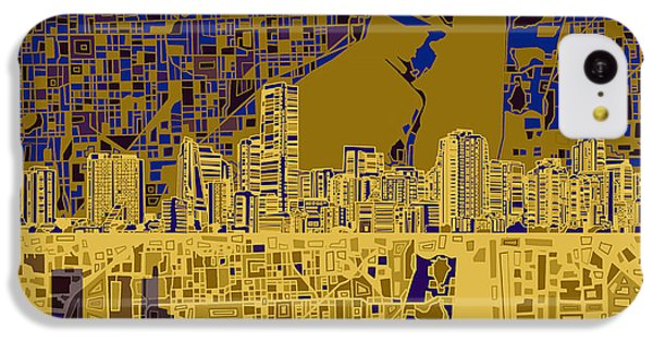 Miami Skyline Abstract 3 IPhone 5c Case