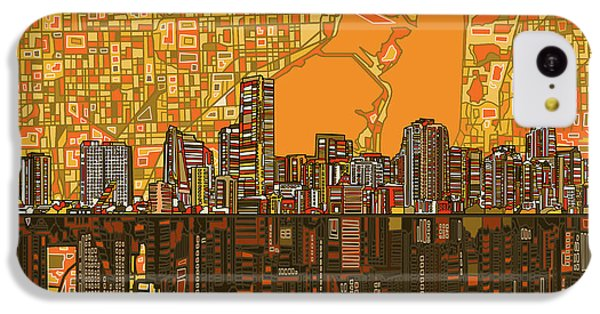 Miami Skyline Abstract 5 IPhone 5c Case