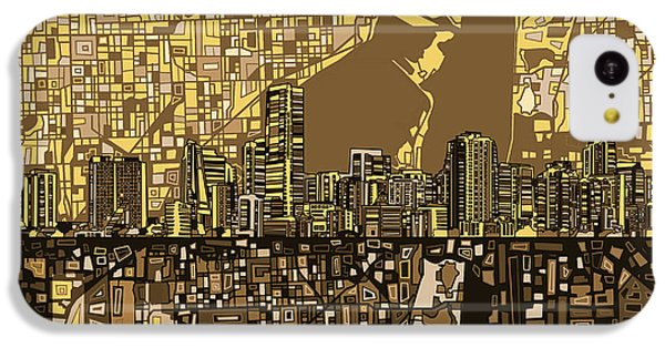 Miami Skyline Abstract 6 IPhone 5c Case