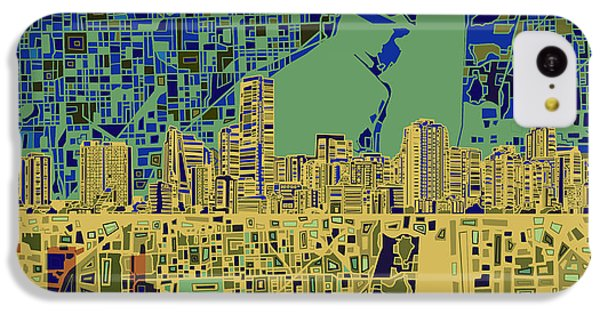 Miami Skyline Abstract 7 IPhone 5c Case