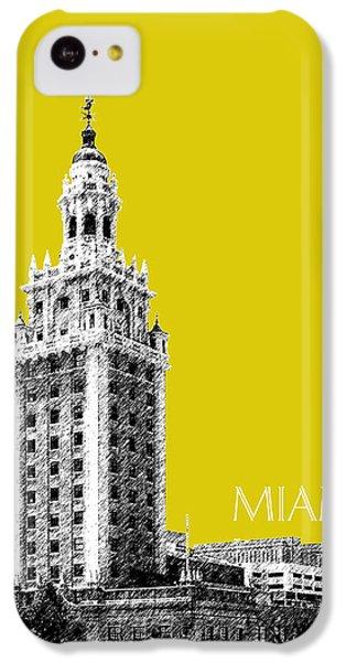 Miami Skyline Freedom Tower - Mustard IPhone 5c Case by DB Artist