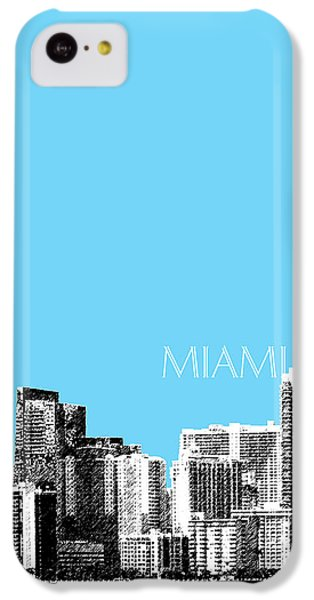 Miami Skyline - Sky Blue IPhone 5c Case by DB Artist