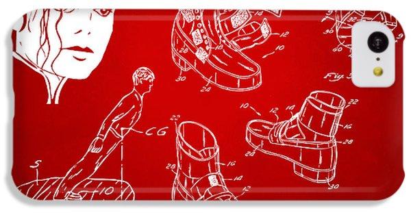 Michael Jackson Anti-gravity Shoe Patent Artwork Red IPhone 5c Case by Nikki Marie Smith