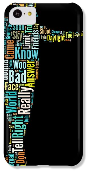 Michael Jackson Typography Poster Bad IPhone 5c Case