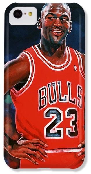 Wizard iPhone 5c Case - Michael Jordan by Paul Meijering