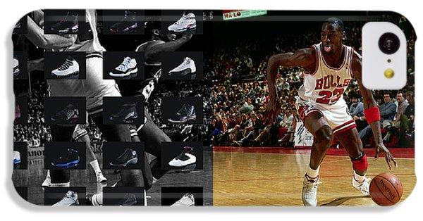 Michael Jordan Shoes IPhone 5c Case by Joe Hamilton