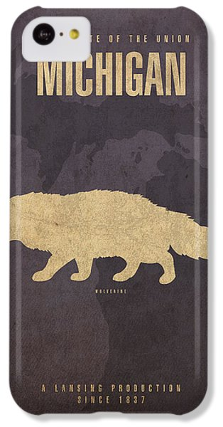 Michigan State Facts Minimalist Movie Poster Art  IPhone 5c Case by Design Turnpike
