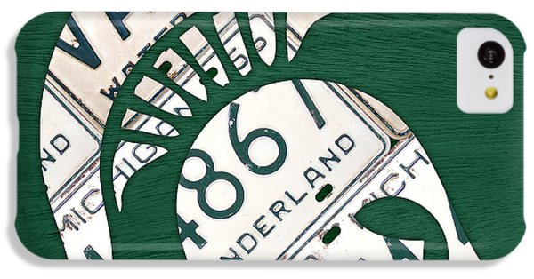 Michigan State Spartans Sports Retro Logo License Plate Fan Art IPhone 5c Case