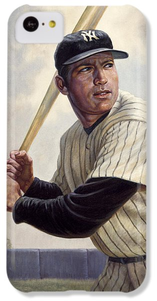 Mickey Mantle IPhone 5c Case by Gregory Perillo