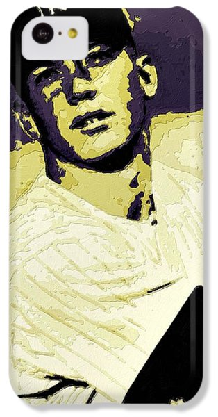 Mickey Mantle Poster Art IPhone 5c Case by Florian Rodarte