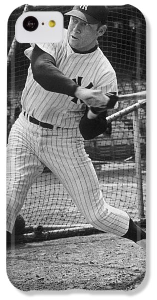 Mickey Mantle Poster IPhone 5c Case by Gianfranco Weiss