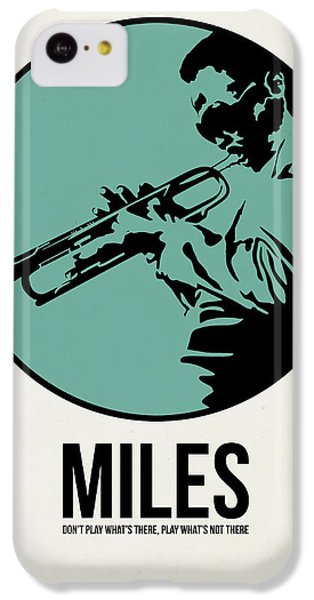 Jazz iPhone 5c Case - Miles Poster 1 by Naxart Studio