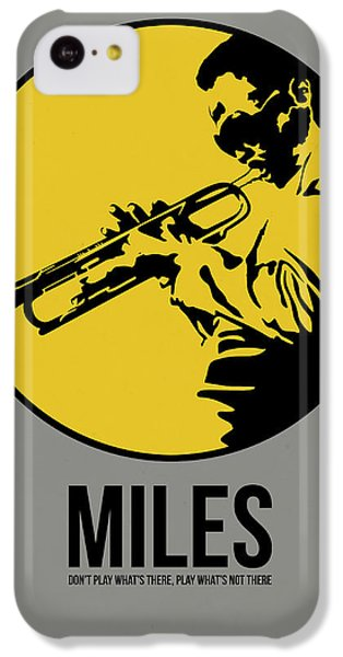 Jazz iPhone 5c Case - Miles Poster 3 by Naxart Studio