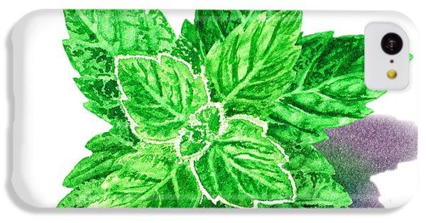 IPhone 5c Case featuring the painting Mint Leaves by Irina Sztukowski
