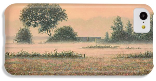 Salmon iPhone 5c Case - Misty Morning by James W Johnson
