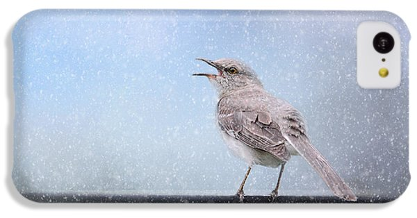 Mockingbird In The Snow IPhone 5c Case by Jai Johnson