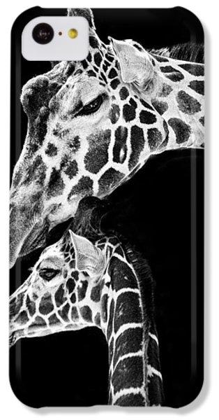 Mom And Baby Giraffe  IPhone 5c Case by Adam Romanowicz