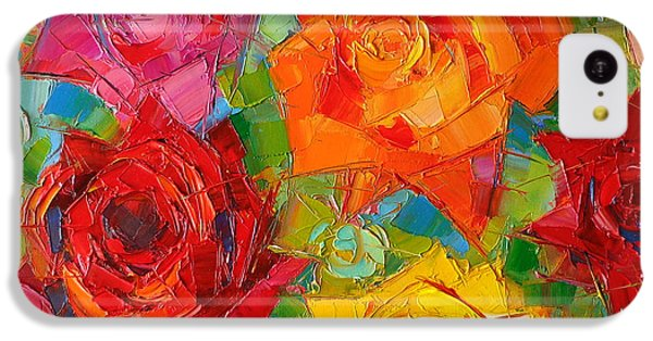 Rose iPhone 5c Case - Mon Amour La Rose by Mona Edulesco