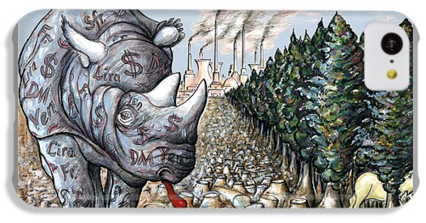Money Against Nature - Cartoon Art IPhone 5c Case by Art America Online Gallery