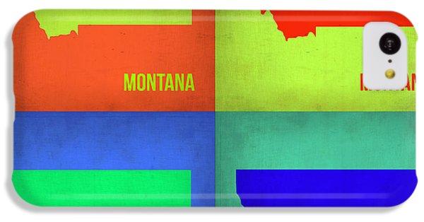 Miami iPhone 5c Case - Montana Pop Art Map 1 by Naxart Studio