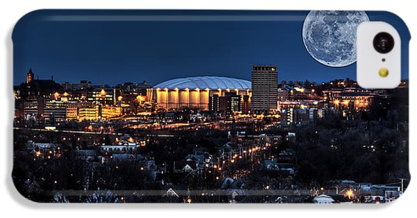 Moon Over The Carrier Dome IPhone 5c Case by Everet Regal