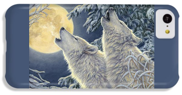 Wolf iPhone 5c Case - Moonlight by Lucie Bilodeau
