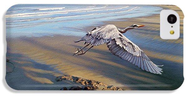 Heron iPhone 5c Case - Morning Fight-blue Heron by Paul Krapf