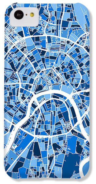 Moscow City Street Map IPhone 5c Case by Michael Tompsett